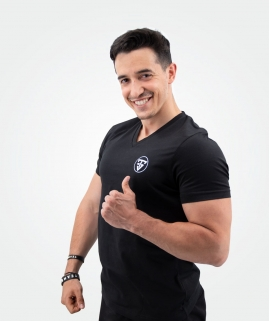 T-Shirt Noir Col V TeamShape