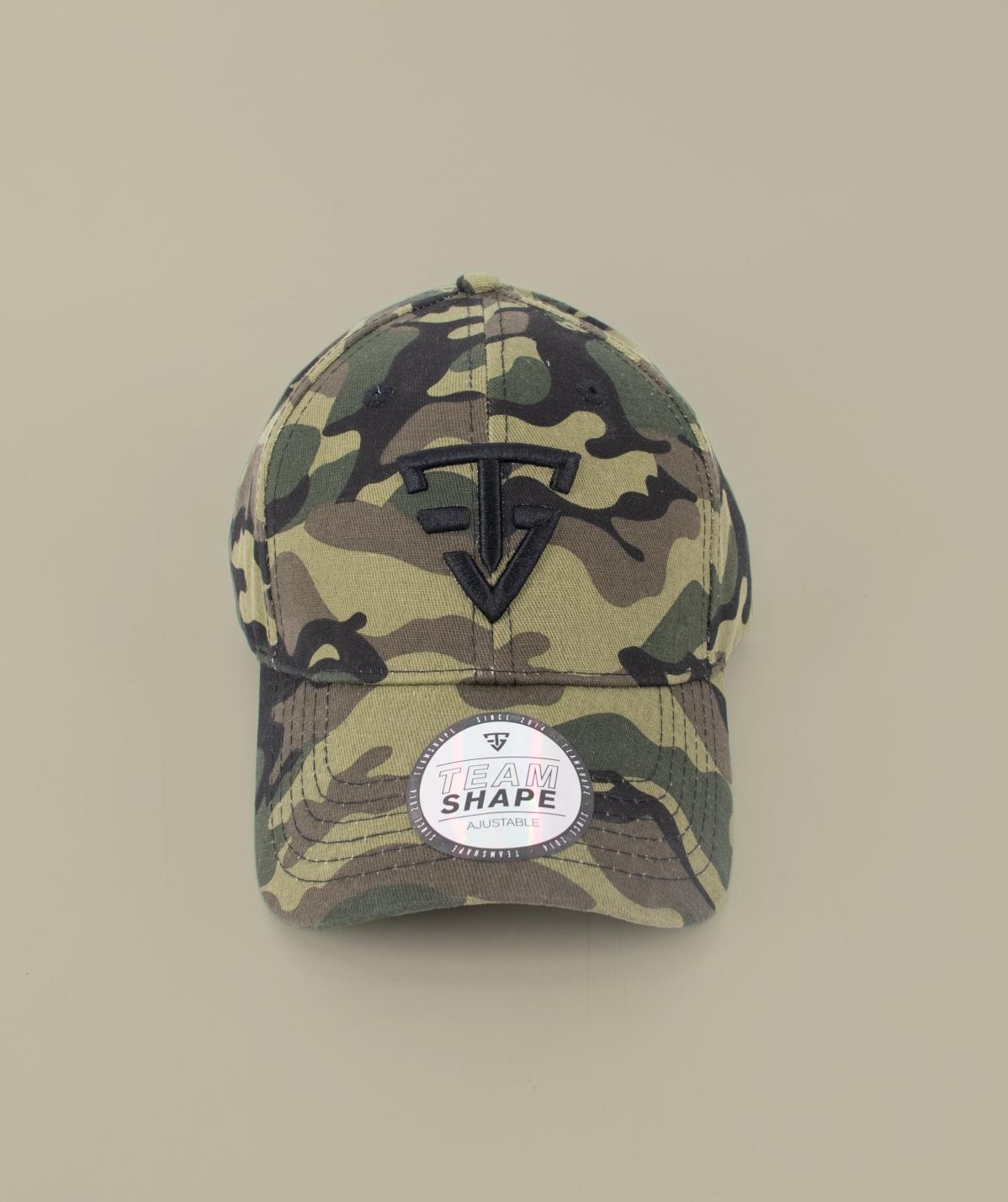 Casquette camouflage logo 3D noir