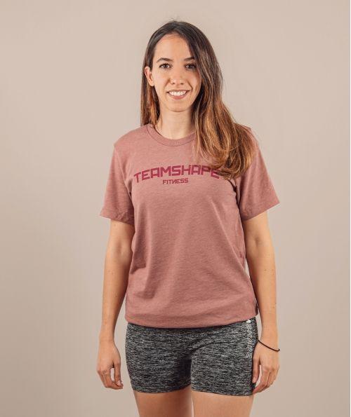T-Shirt Femme bordeaux Fitness