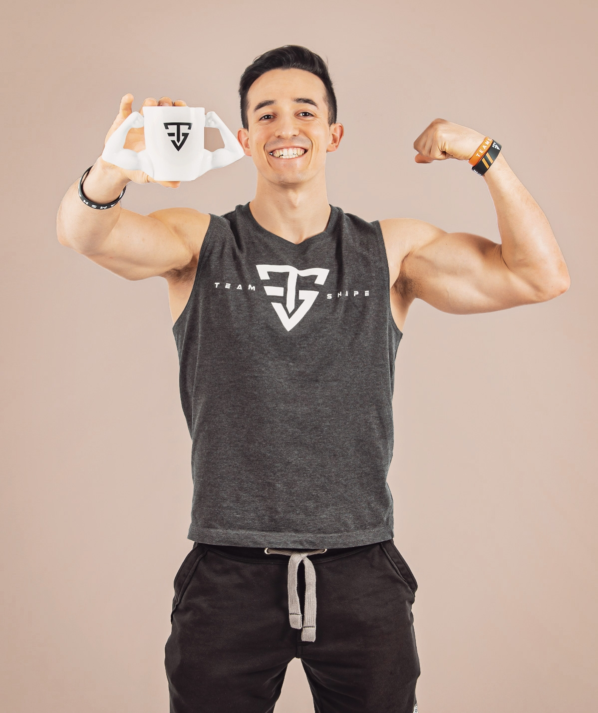 Mug Double Biceps Blanc
