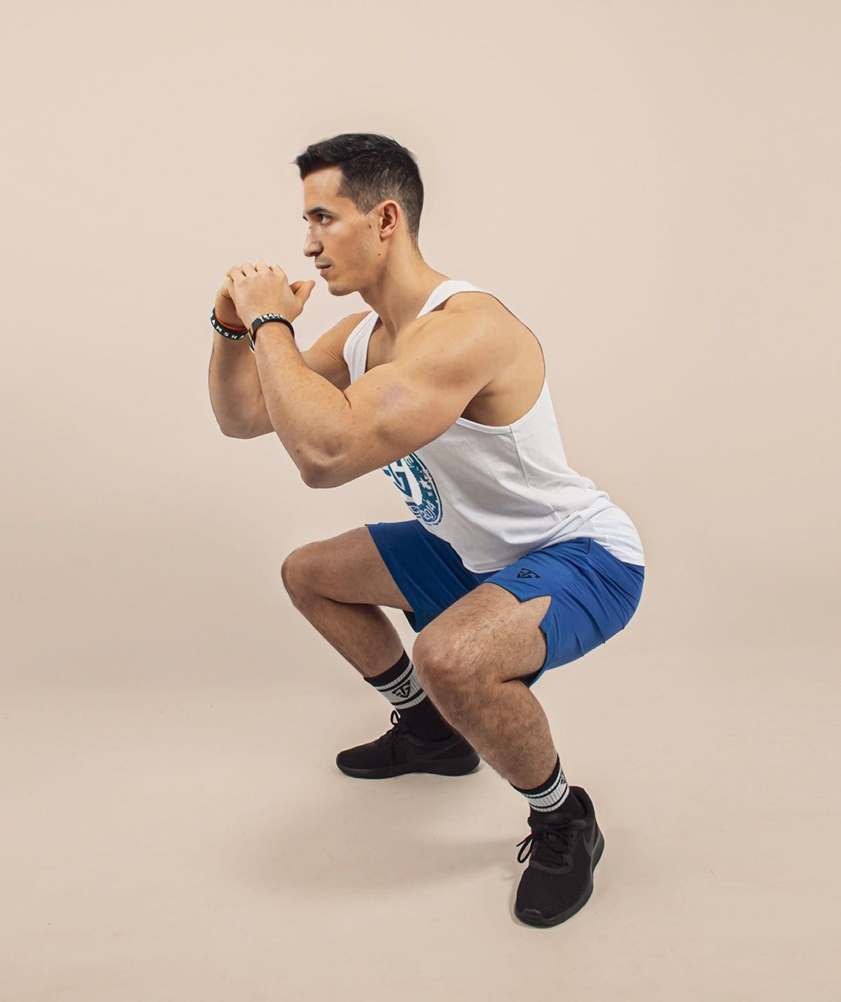 Short bleu Cross training