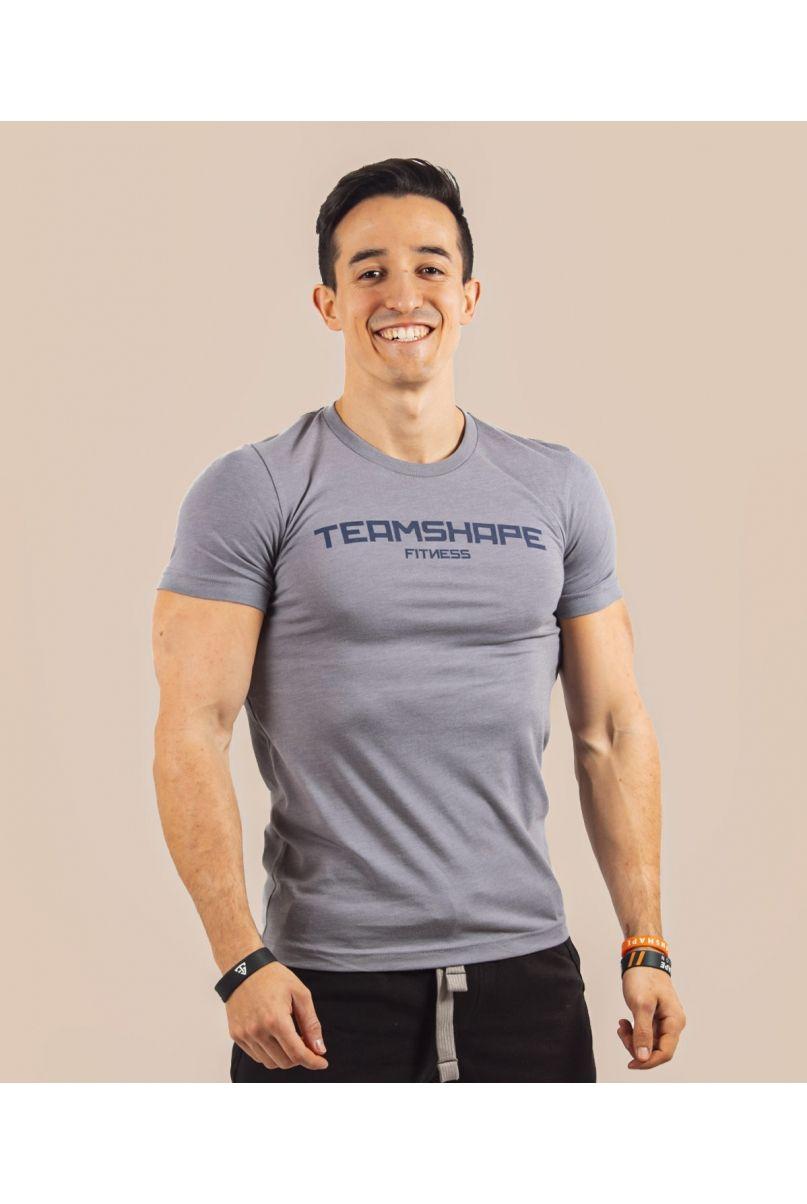 T-Shirt Homme Bleu Lavande Fitness