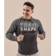 Sweat-shirt homme gris anthracite chiné