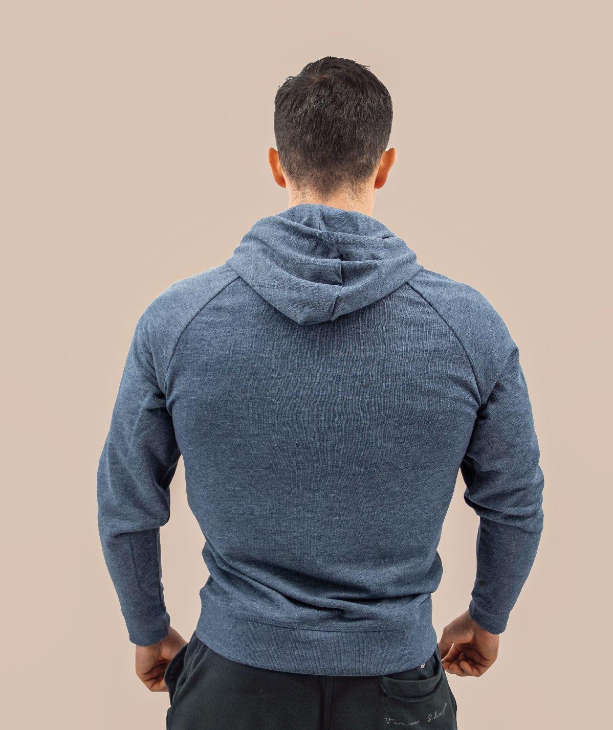 Sweat-Shirt homme bleu chiné