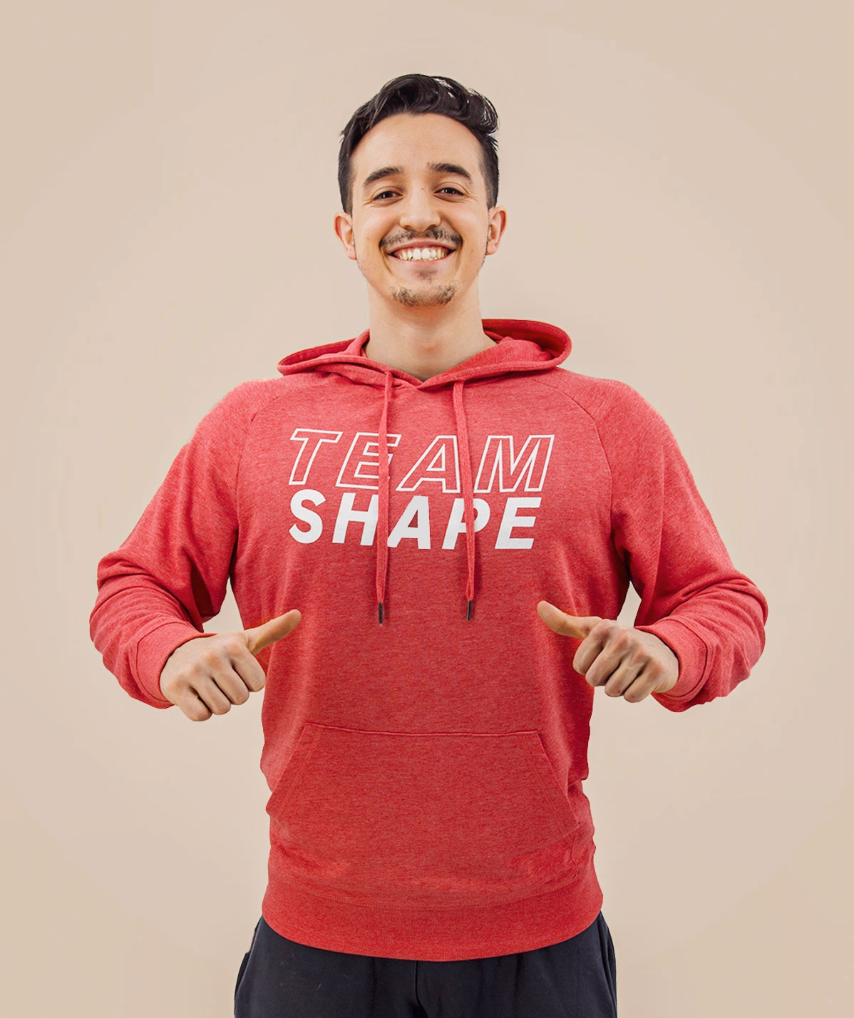 Sweat-Shirt homme Rouge Chiné