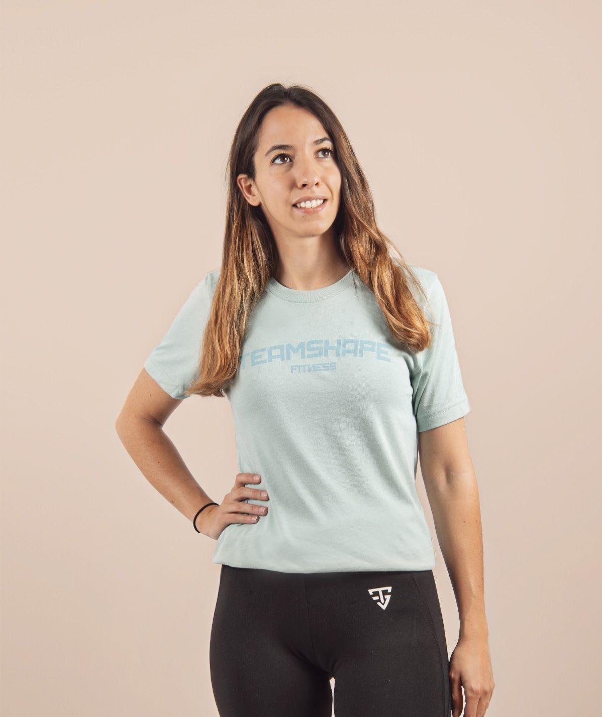 T-Shirt Femme Bleu Clair Fitness