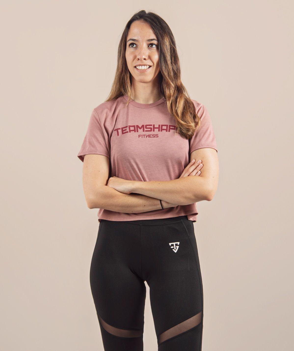 Croptop Femme bordeaux Fitness