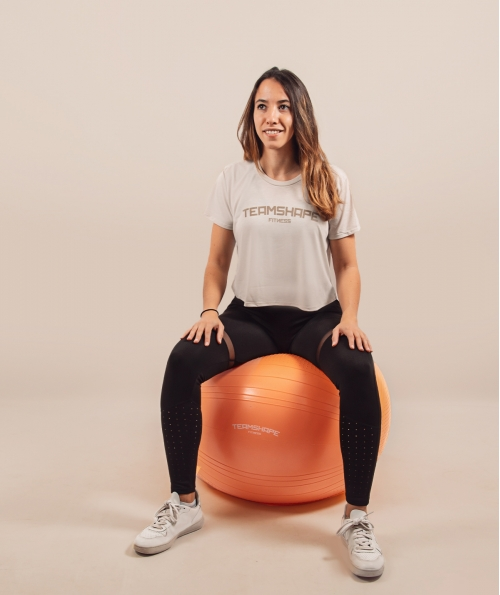 Croptop Femme Beige Fitness