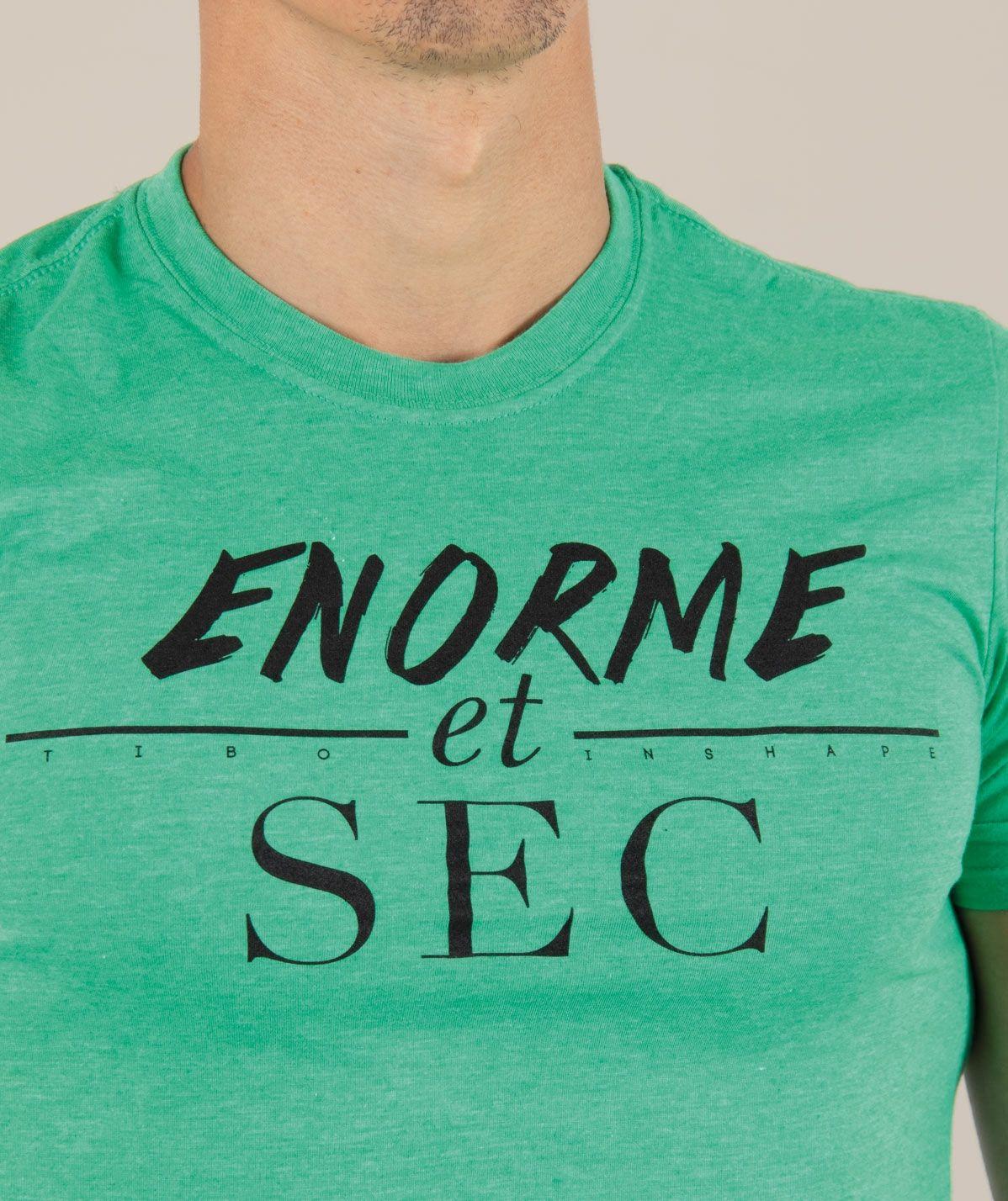 T-Shirt Vert Enorme & Sec