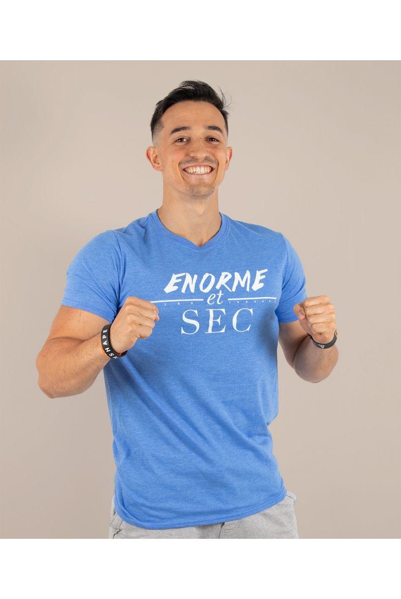 T-Shirt Bleu Enorme et Sec