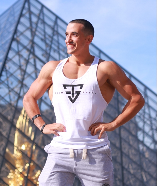 Stringer Blanc logo Noir TeamShape