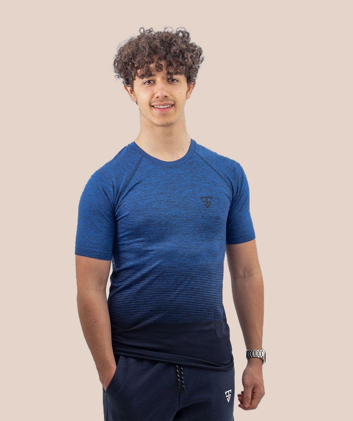 T-shirt Bleu Performance