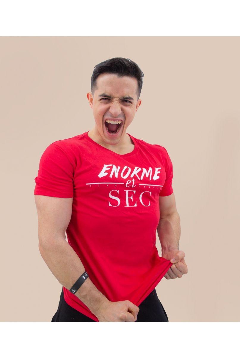 T-Shirt Rouge Enorme et Sec