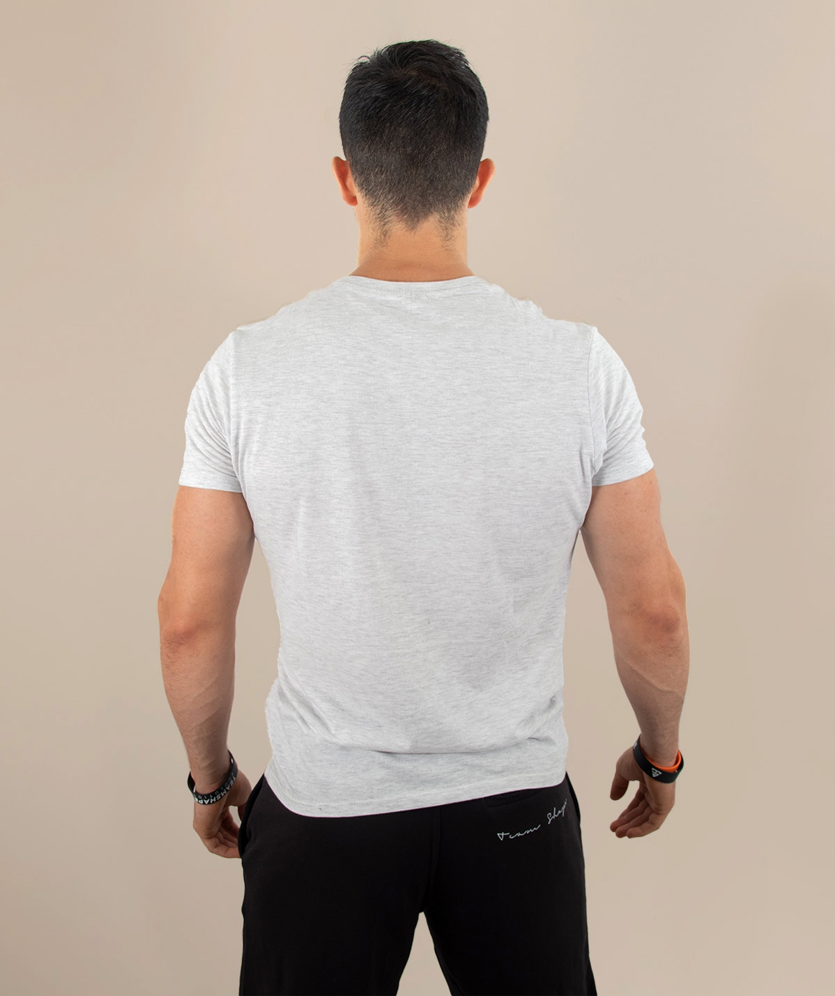 T-Shirt Blanc Chiné DAAMN