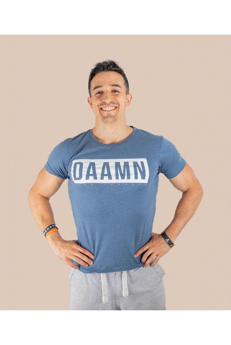T-Shirt Bleu DAAMN