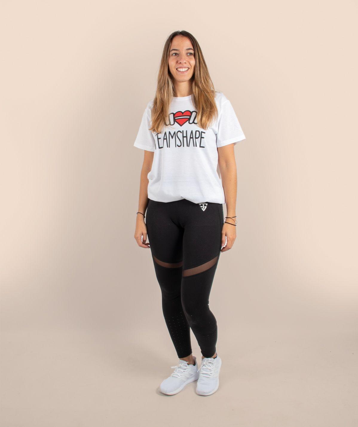 T-Shirt Bio I Love TeamShape Femme