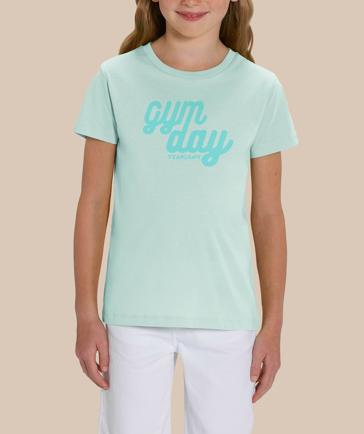 T-shirt Gymday - Bleu Caraïbe Fille