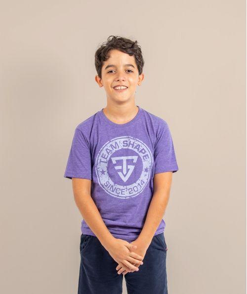 T-shirt enfant since violet chiné