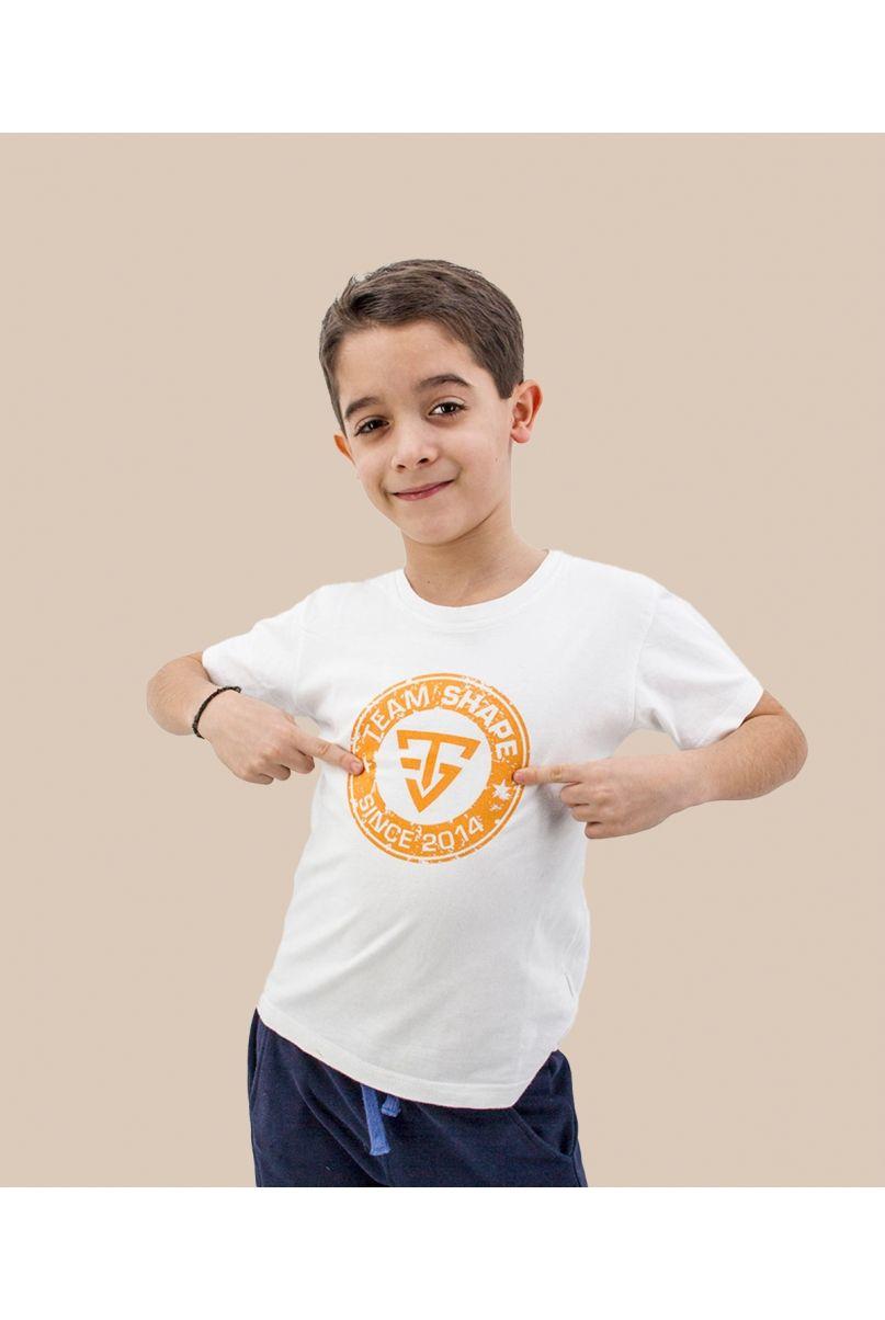 T-shirt enfant since logo orange