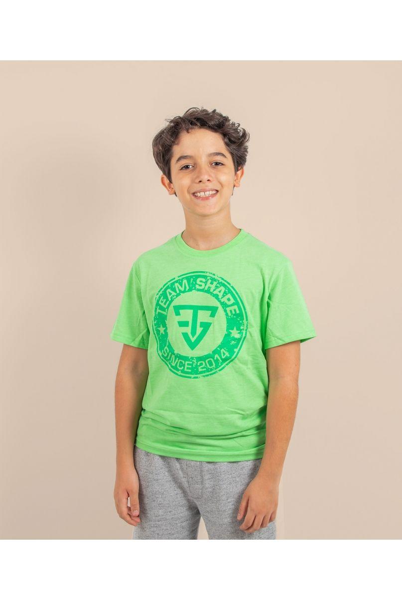 T-shirt enfant since vert chiné
