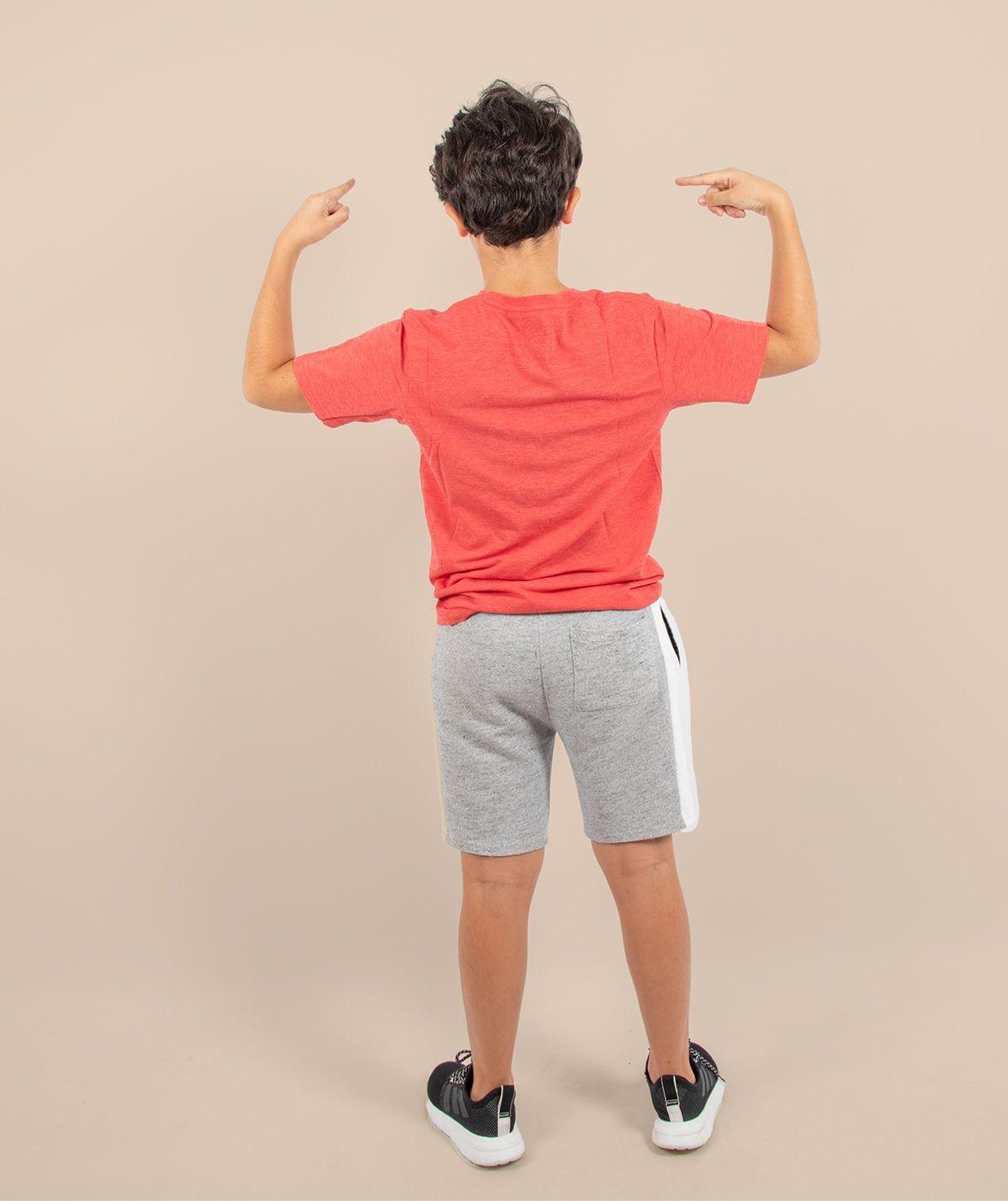 T-shirt enfant since rouge chiné