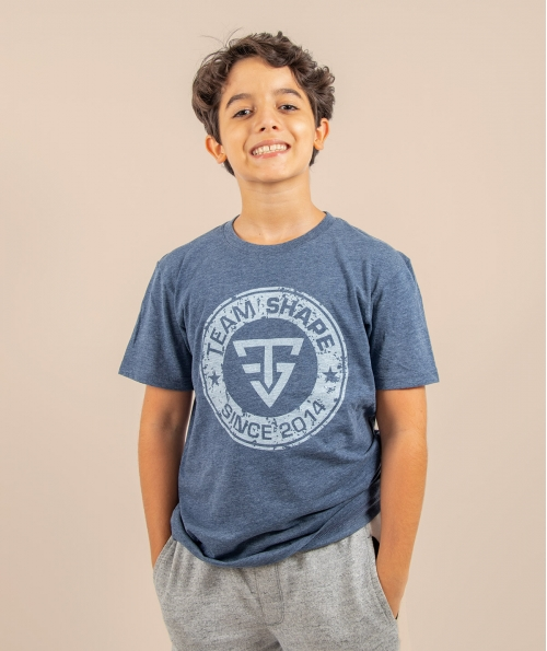 T-shirt enfant since bleu navy chiné