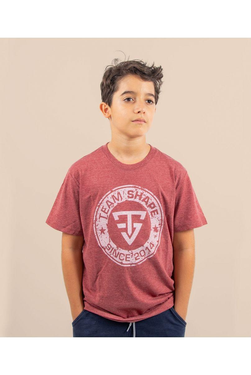 T-shirt enfant since bordeaux chiné