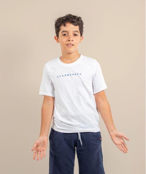 T-shirt enfant Blanc Hashtag