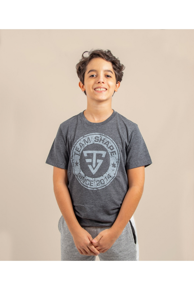 T-shirt enfant since gris foncé chiné