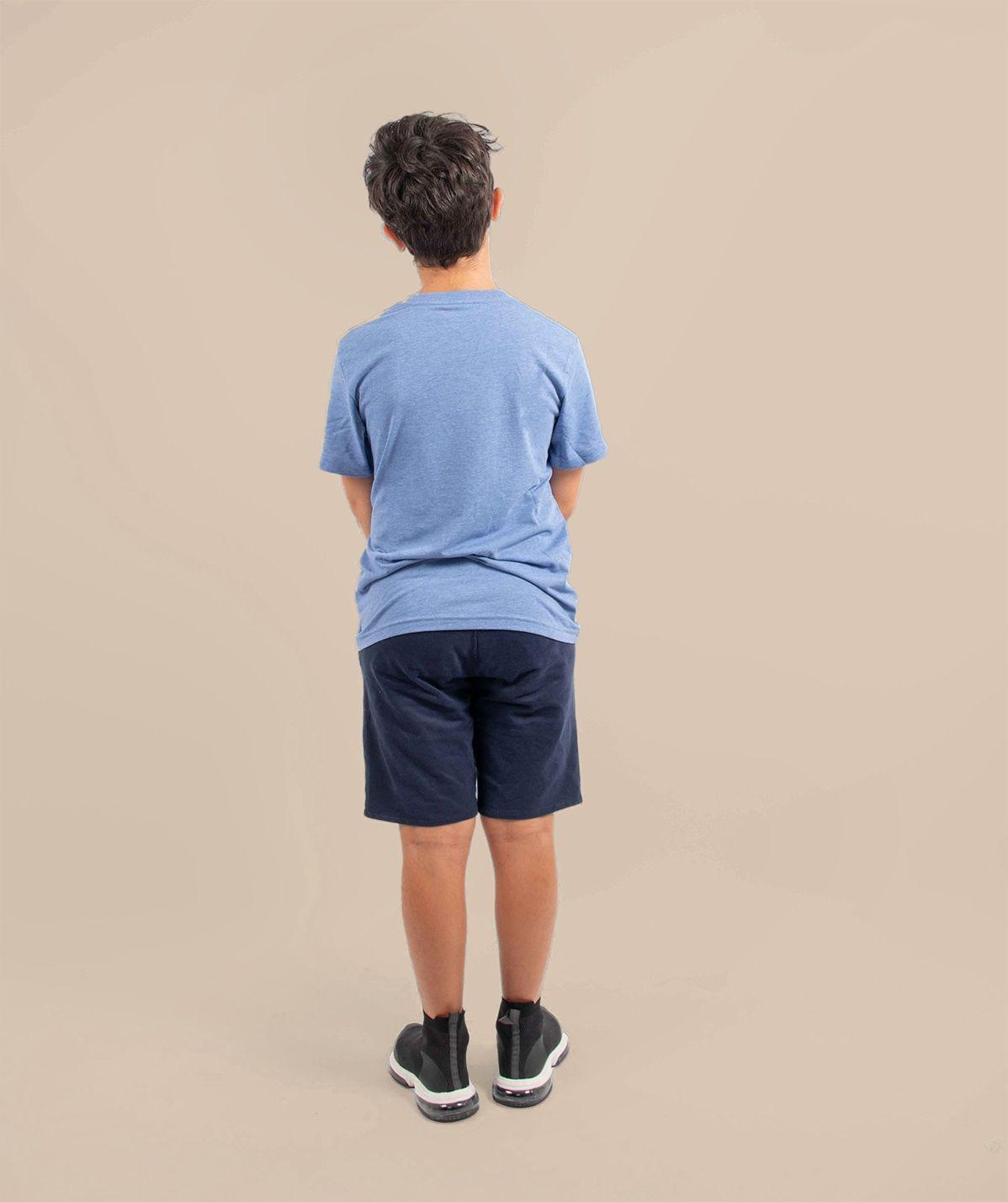 T-shirt enfant since bleu chiné