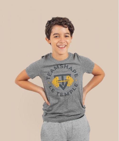 T-Shirt Bio enfant gris TeamShape le Temple