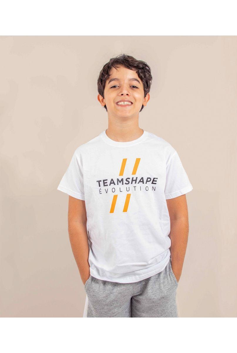 T-Shirt enfant blanc Teamshape evolution
