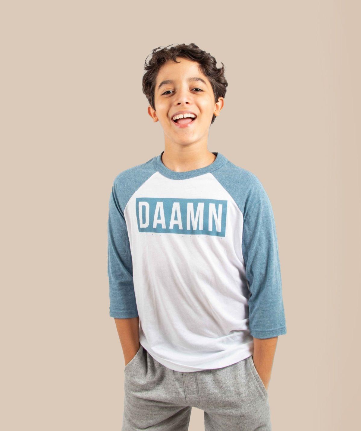 T-Shirt enfant blanc / denim