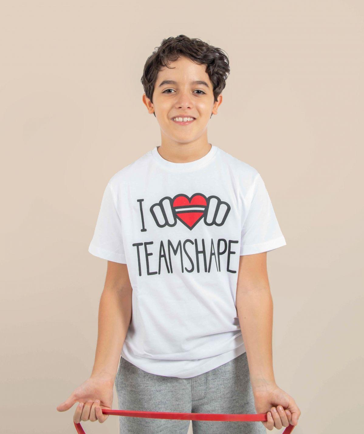 T-Shirt Bio I Love TeamShape Enfant