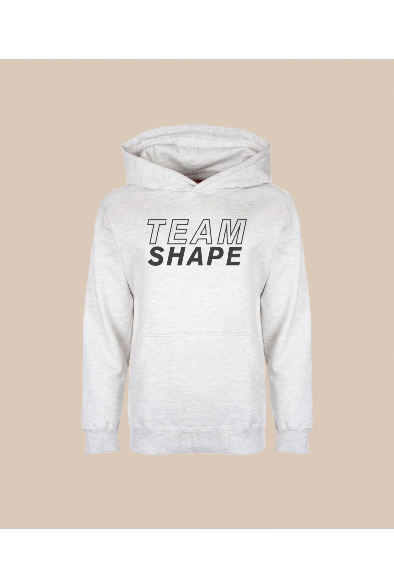 Sweat-shirt à capuche blanc chiné