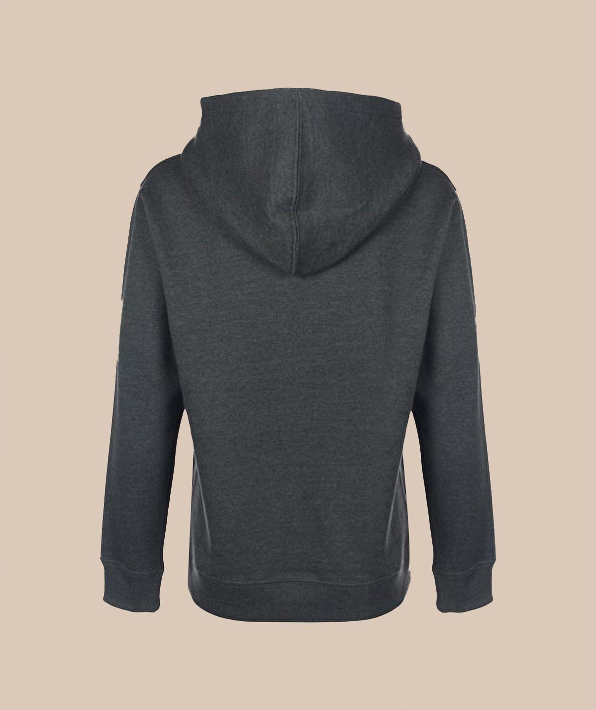 Sweat-shirt à capuche gris foncé