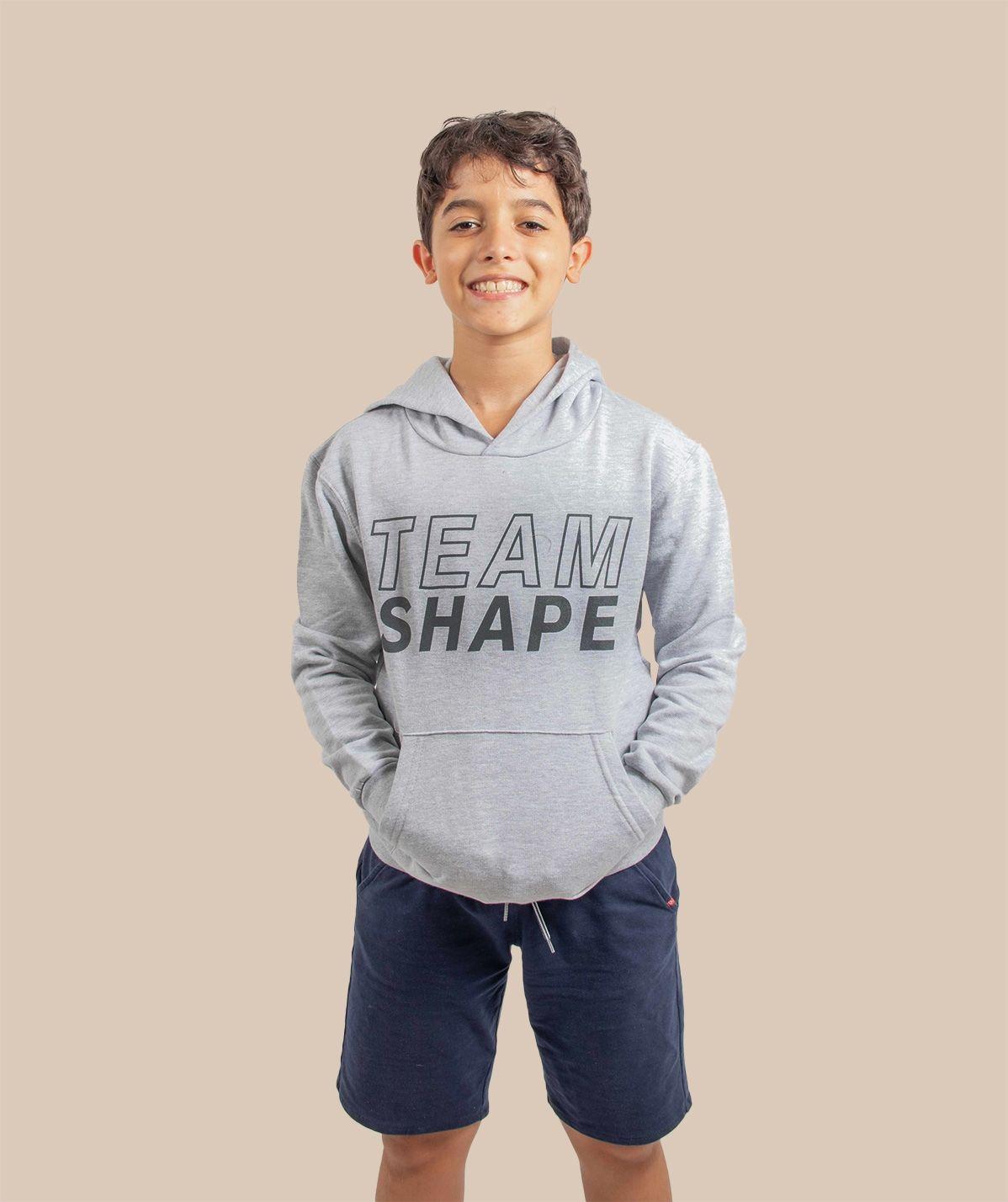 Sweat-shirt à capuche gris