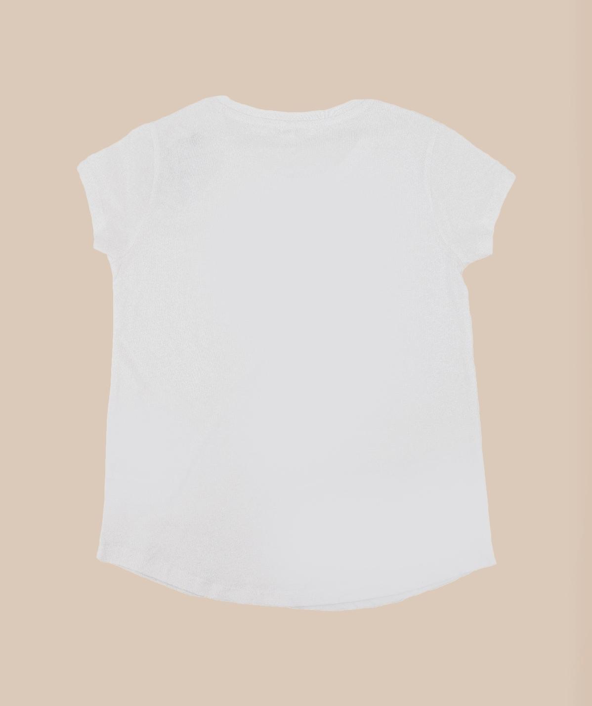 T-shirt Blanc Petite InShape logo Noir