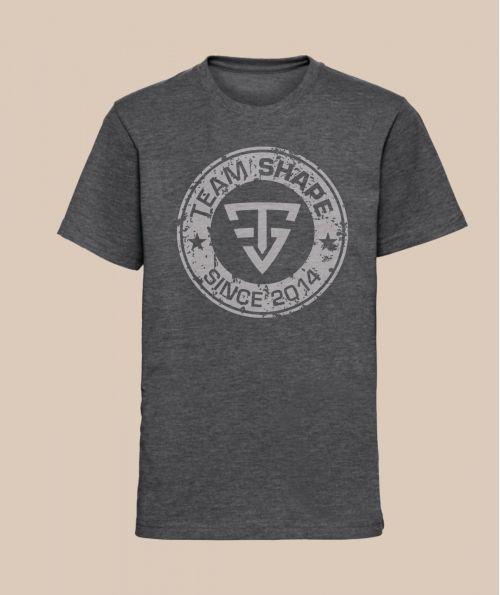 T-shirt Fille since Gris Chiné TeamShape