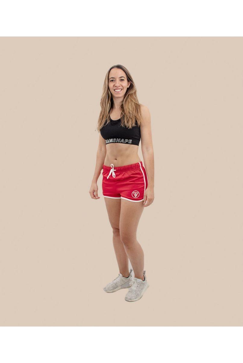 Short rétro rouge Femme