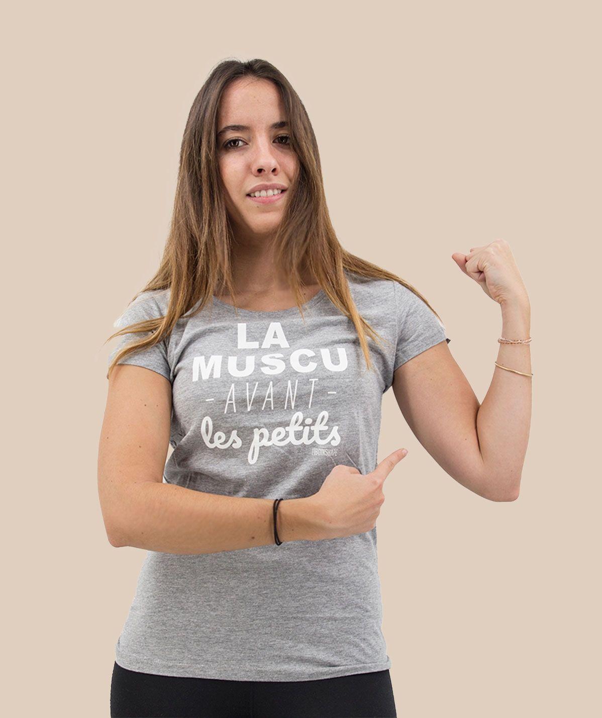 T-shirt la muscu avant les petits