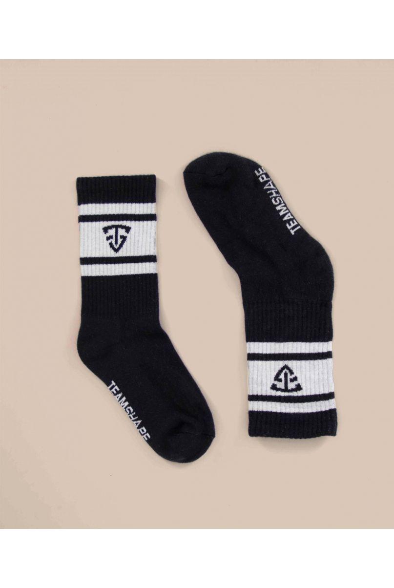 Chaussettes noires mixtes TeamShape