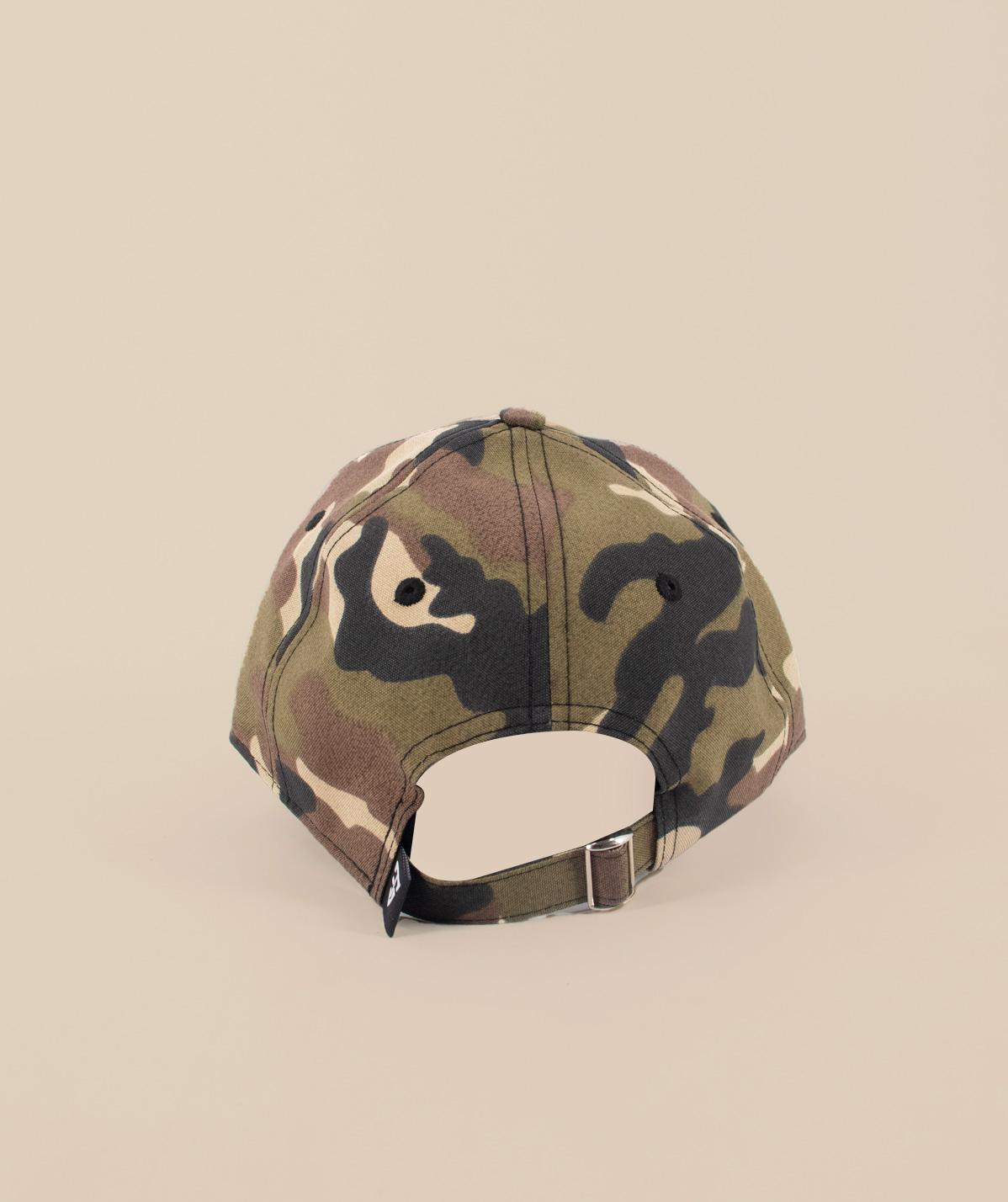 Casquette camouflage logo 3D blanc