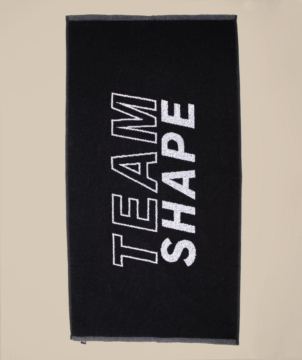 Serviette sport noire logo blanc