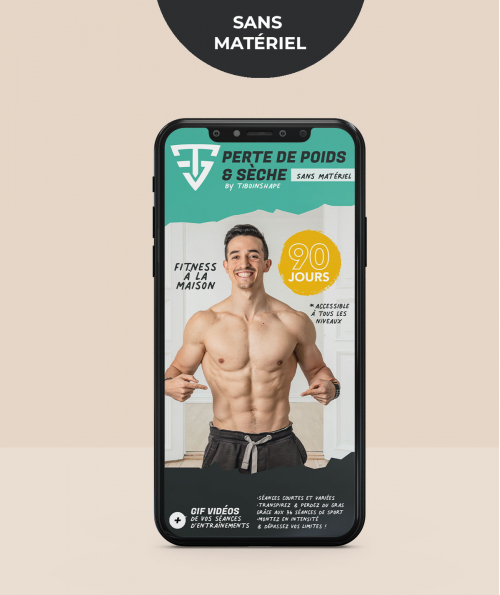 Programme Musculation Maison Perte de poids & Sèche sans matériel - Ebook