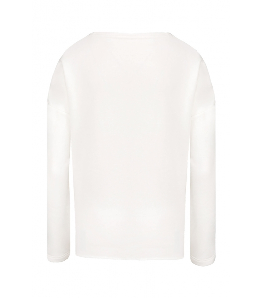 Sweat-shirt Femme Loose Blanc TeamShape